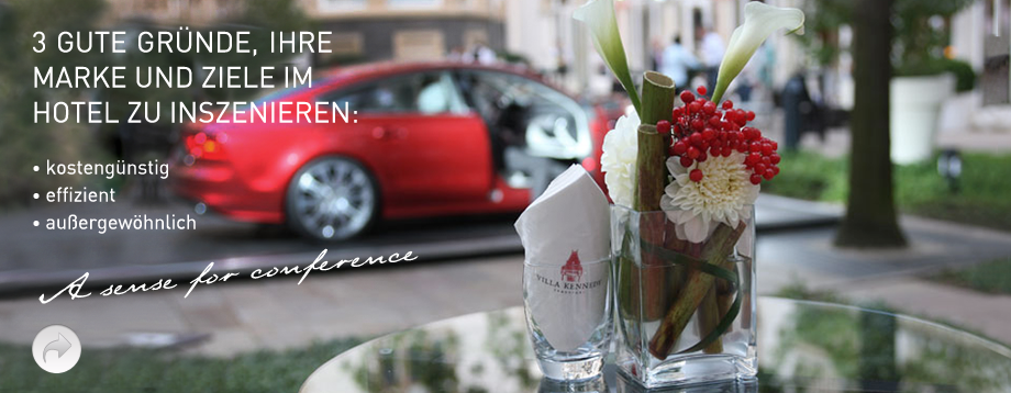 Wir inszenieren Ihre Marke und Ziele im Hotel mit der MEETING Manufaktur...